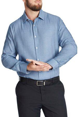 Johnny Bigg Men's Big & Tall Lawrence Regular Fit Jacquard Button-Up Shirt