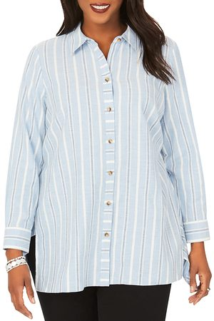 Foxcroft Edison Striped Brushed Cotton Tunic