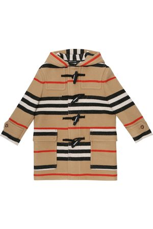 Burberry Icon Stripe virgin wool duffle coat