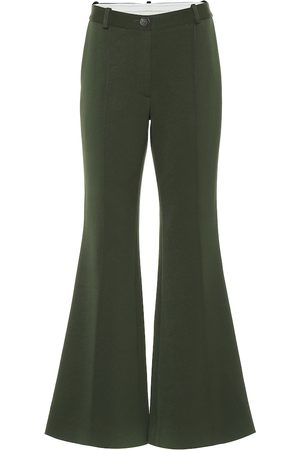 Peter Do High-rise twill flared pants