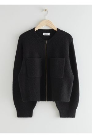 & OTHER STORIES Knitted Zip Cardigan