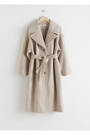 & OTHER STORIES Oversized Wool Blend Belted Coat