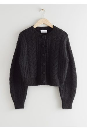 & OTHER STORIES Cropped Button Up Knit Sweater