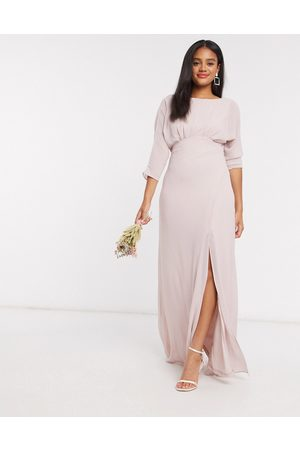 TFNC Bridesmaid cowl back maxi dress with kimono sleeve in