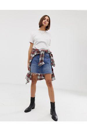 Levi's Denim mini skirt with raw hem