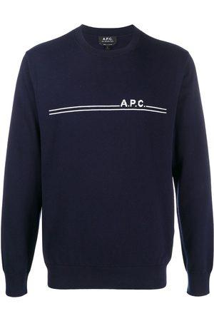 A.P.C Front-logo crewneck jumper