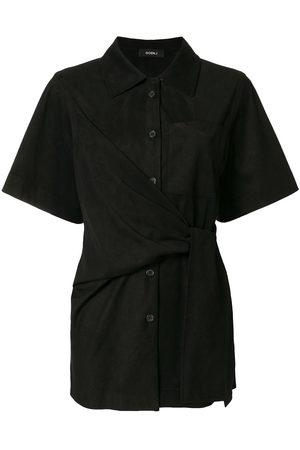 GOEN.J Knot-detail short sleeve shirt
