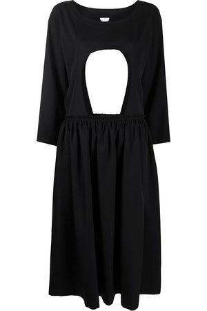 Comme des Garçons Cut out gathering detail dress