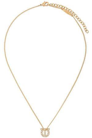 Salvatore Ferragamo Crystal-embellished Gancini necklace