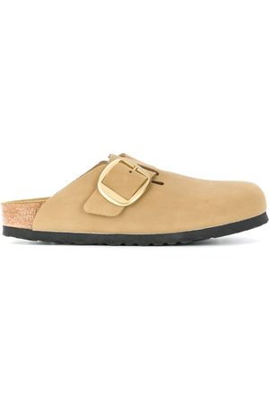Birkenstock Chunky leather slippers - Neutrals