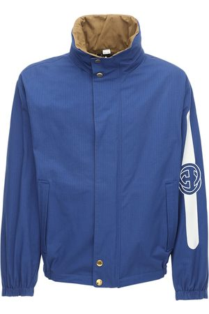 Gucci Reversible Hooded Cotton & Nylon Jacket