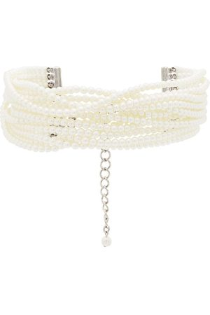 Kenneth Jay Lane Women Necklaces - Multi strand pearl choker necklace