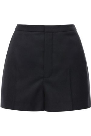 Saint Laurent Wool Gabardine Shorts
