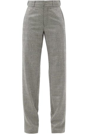 Vetements Prince-of-wales-checked Wool-blend Trousers - Womens