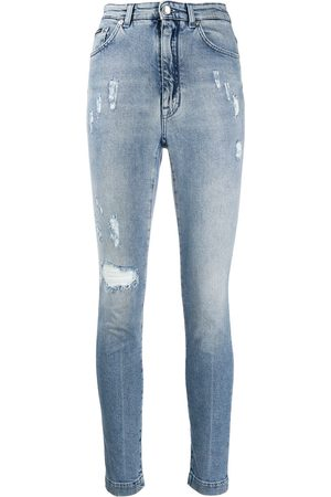 Dolce & Gabbana Audrey ripped high-waisted jeans