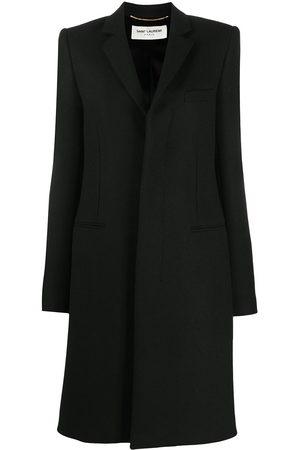 Saint Laurent Single breasted mid-length coat
