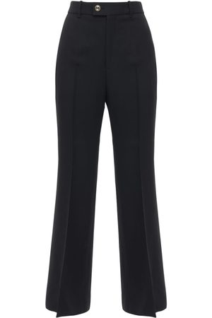 Gucci Wool & Silk Cady Crepe Flared Crop Pants