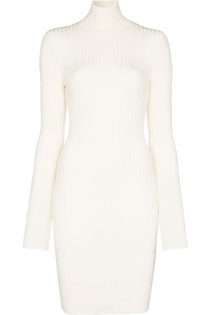 Wolford Ribbed knit fitted mini dress - Neutrals
