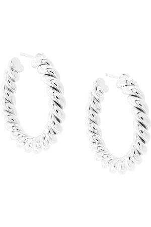 Isabel Lennse Women Earrings - Medium twisted loop earrings