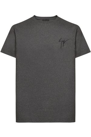 Giuseppe Zanotti Logo embroidered T-shirt - Grey