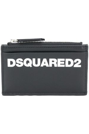 Dsquared2 Leather zip purse with multiple slip pockets