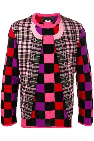 Comme des Garçons Men Sweatshirts - Deconstructed check jumper