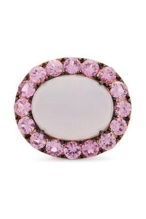 ROSA DE LA CRUZ Sapphire, Chalcedony & 18kt Rose-gold Ring - Womens - Multi