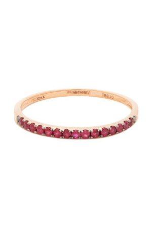 ROSA DE LA CRUZ Women Rings - Ruby & 18kt Rose Gold Eternity Ring - Womens