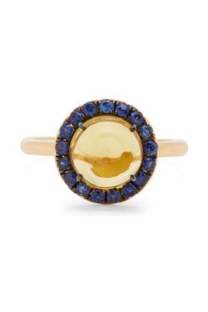 ROSA DE LA CRUZ Sapphire, Lemon-quartz, And 18kt Gold Ring - Womens - Multi