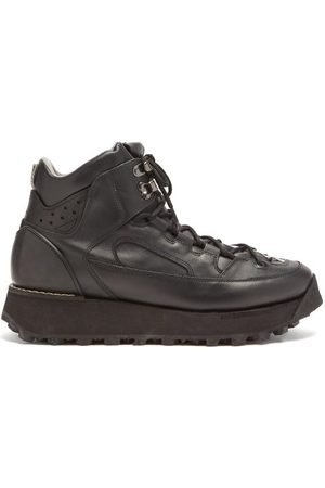 Acne Studios Flatform Leather Hiking Boots - Mens
