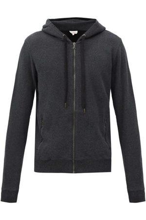 DEREK ROSE Men Sweatshirts - Devon Zipped Cotton-jersey Hooded Sweatshirt - Mens - Grey