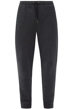 DEREK ROSE Devon Drawstring Cotton-jersey Track Pants - Mens - Grey