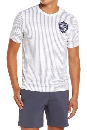 Rhone Men's Swift Academy Pinstripe Performance Mesh T-Shirt