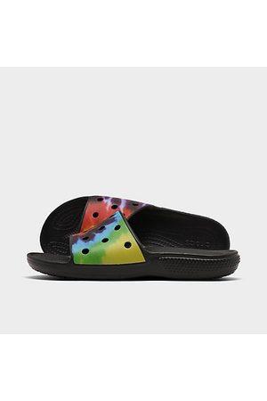 Crocs Tie-Dye Graphic Classic Slide Sandals in Size 4.0