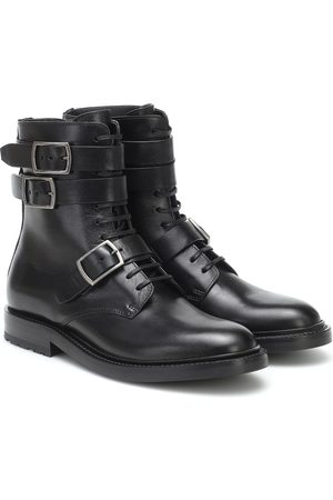 Saint Laurent Women Ankle Boots - Army leather ankle boots
