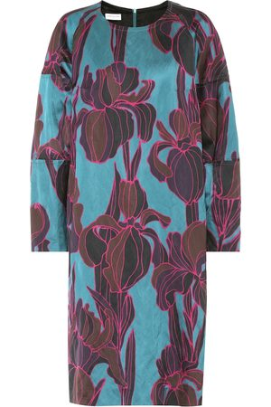 DRIES VAN NOTEN Floral satin dress