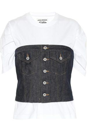 JUNYA WATANABE Cotton and denim T-shirt