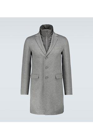 HERNO Layered cashmere overcoat