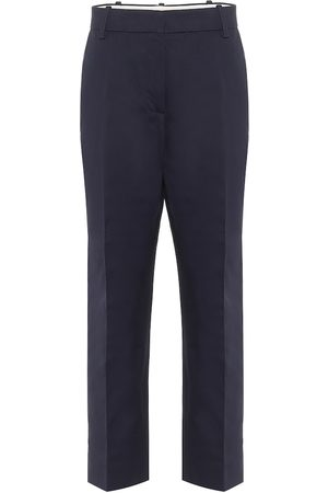Marni High-rise straight cotton-blend pants