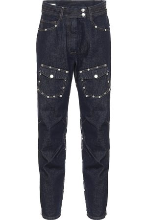 DRIES VAN NOTEN Studded mid-rise carrot jeans