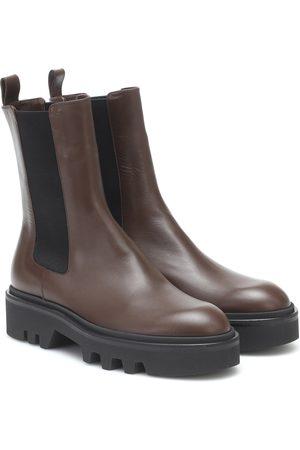 DRIES VAN NOTEN Leather platform Chelsea boots