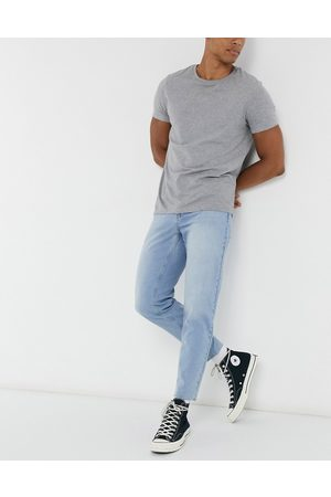 ASOS Classic rigid jeans in light wash with raw hem