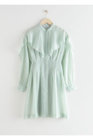 & OTHER STORIES Voluminous Ruffled Bib Mini Dress