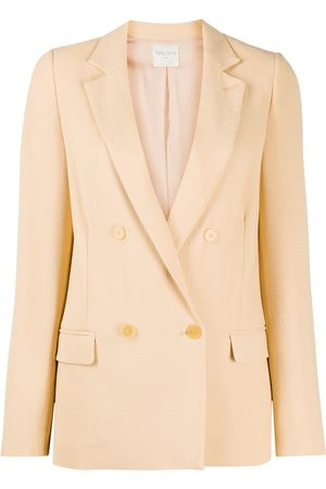 FORTE FORTE Women Blazers - Double-breasted fitted blazer - Neutrals