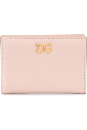Dolce & Gabbana Women Wallets - Small Baroque logo-plaque wallet