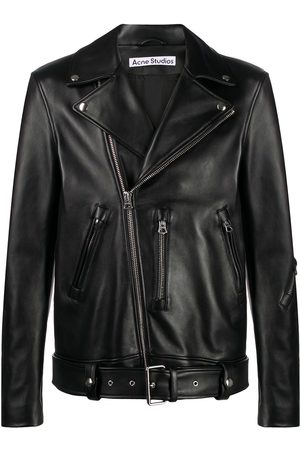 Acne Studios Off-centred zipped biker jacket