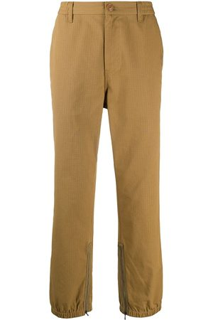 Gucci Logo-stripe trousers - Neutrals