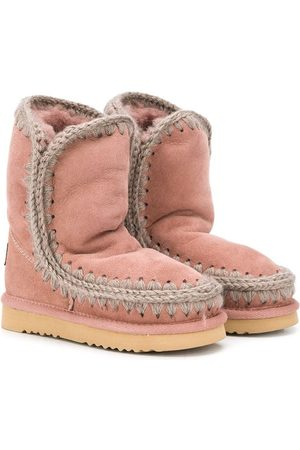 Mou Girls Ankle Boots - Shearling snow boots