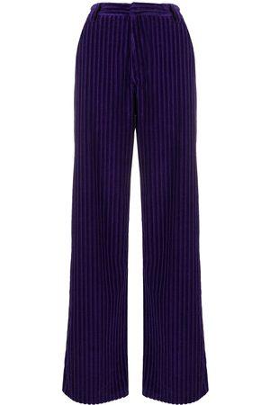 Ami Corduroy-effect wide-leg trousers