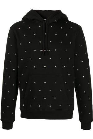 Saint Laurent Eyelet detail hoodie